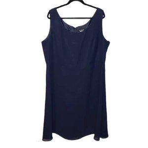 Bahari Sleeveless Dress Scoop Neck Blue Size 22W